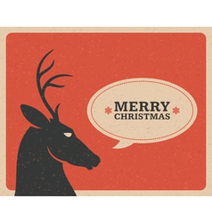 Merry Christmas postcard with deer vector image