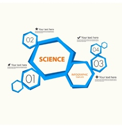 Science infographic template vector image
