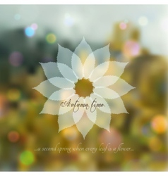 Bokeh romantic autumn background vector