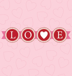 Love word circles bright vector