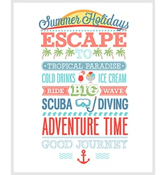 Summer holiday poster vector