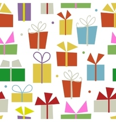 Seamless pattern design with gift boxes vector