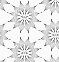 Gray eight pedal geometrical flower vector