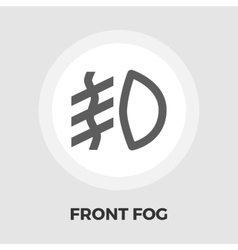 Front fog light flat icon vector image