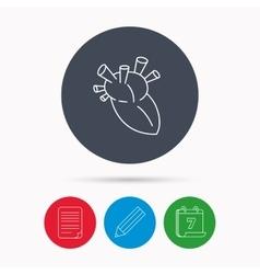 Heart icon human organ sign transplantation vector
