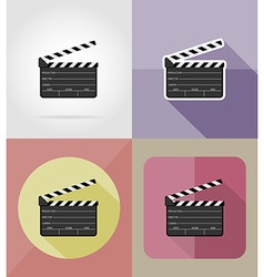 cinema flat icons 08 vector image