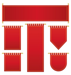 red and gold banners vector image
