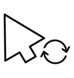 Arrow cursor loading icon simple black style vector
