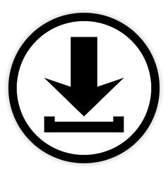Arrow download button vector image vector image