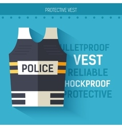 Bulletproof vest protective icon vector