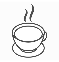 Cup of tea or cofee icon isometric 3d style vector