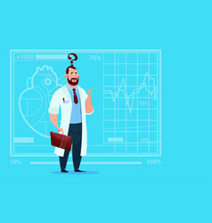 doctor confused thinking medical clinics worker vector image