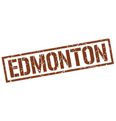Edmonton brown square stamp vector