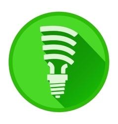 Ergonomic light bulb in flat design vector