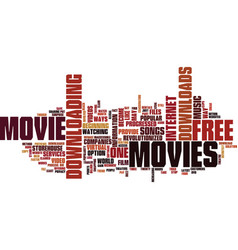 Free movie downloads text background word cloud vector