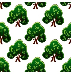 Fresh green spring trees seamless pattern vector image vector image