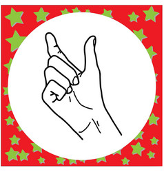 Hand gesture hold something vector