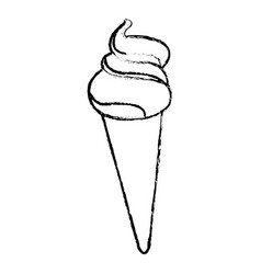 ice cream cone sundae dessert frozen vector image