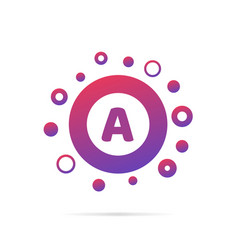 letter a with dots logo design vector image vector image