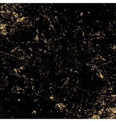 Light grunge gold black texture vector
