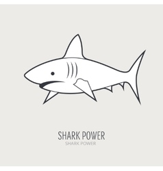 Line logotype with shark vector
