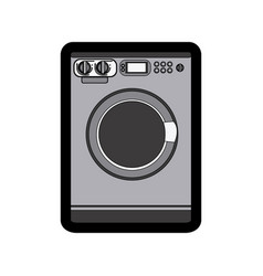 monochrome thick contour of washing machine vector image vector image