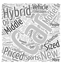 New hybrid cars 1 text background wordcloud vector