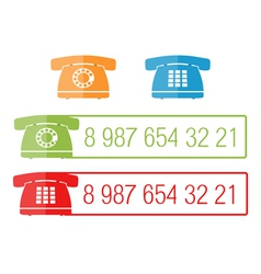 Phone icons with place for number eps10 il vector