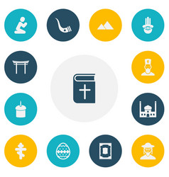 Set of 13 editable dyne icons includes symbols vector
