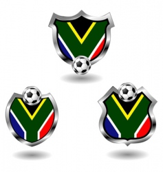 south Africa soccer badges vector image vector image