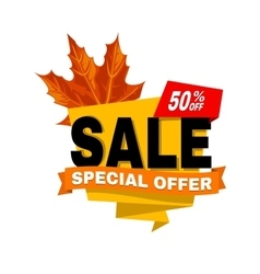 Special offer off banner Super mega sale vector image vector image