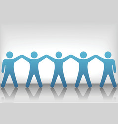 teamwork background vector image vector image