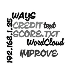 Ways to improve your credit score text word cloud vector