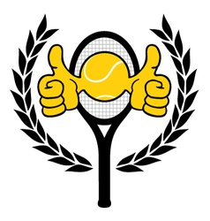 Winner tennis emblem vector image