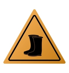 Industrial boots icon sign vector