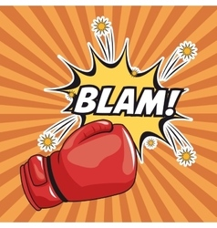 Blam explosion pop art comic design vector