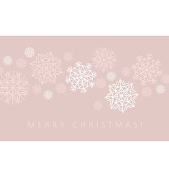 Snowflake winter background in gentle feminine vector