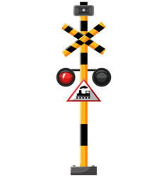 traffic signal for train vector image