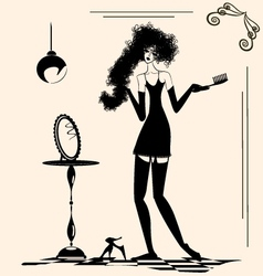 Lady and comb vector