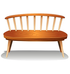 A wooden chair furniture vector