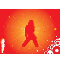 red hot women vector image