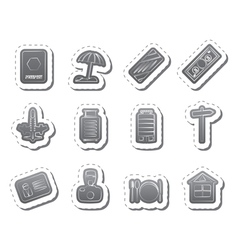 Travel holiday and trip icons vector