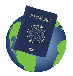 Globe and passport vector