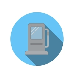 Gas station flat icon vector
