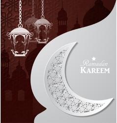 Arabic of ramadan kareem vector