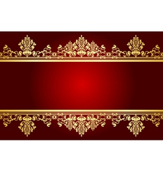 red and gold frame vector image