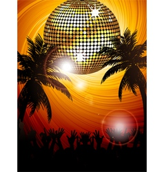 Tropical party portrait vector