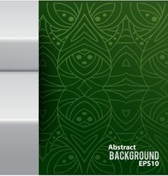 Abstract background with pattern and metal border vector image vector image