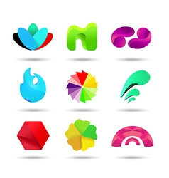 Abstract logo design set vector image vector image