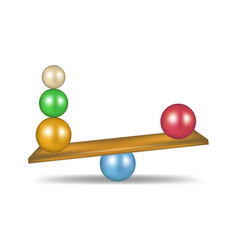 balanced balls in various colours vector image vector image